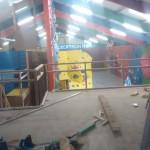 chantier salle d'escalade